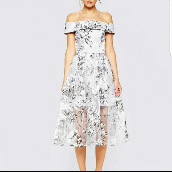 8e16bf9c4605 Haoyihui Dresses   Skirts - HAOYIHUI Silver Floral Party Dress